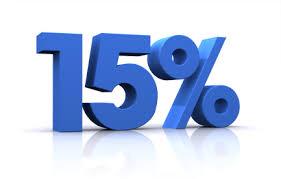 15 por ciento